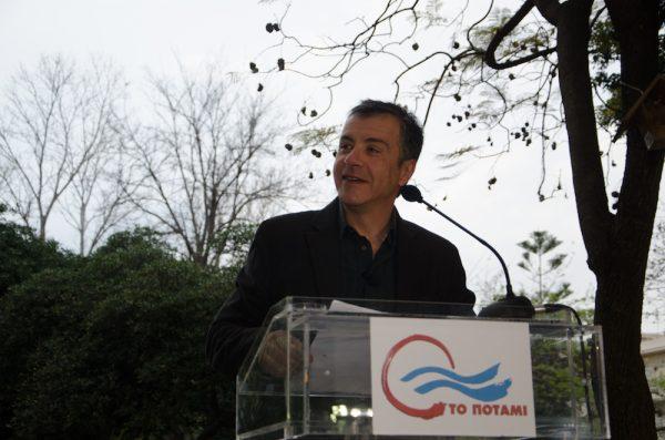 Στην πρώτη ομιλία ως πολιτικός αρχηγός, στα Χανιά, τον Μάρτιο του 2014